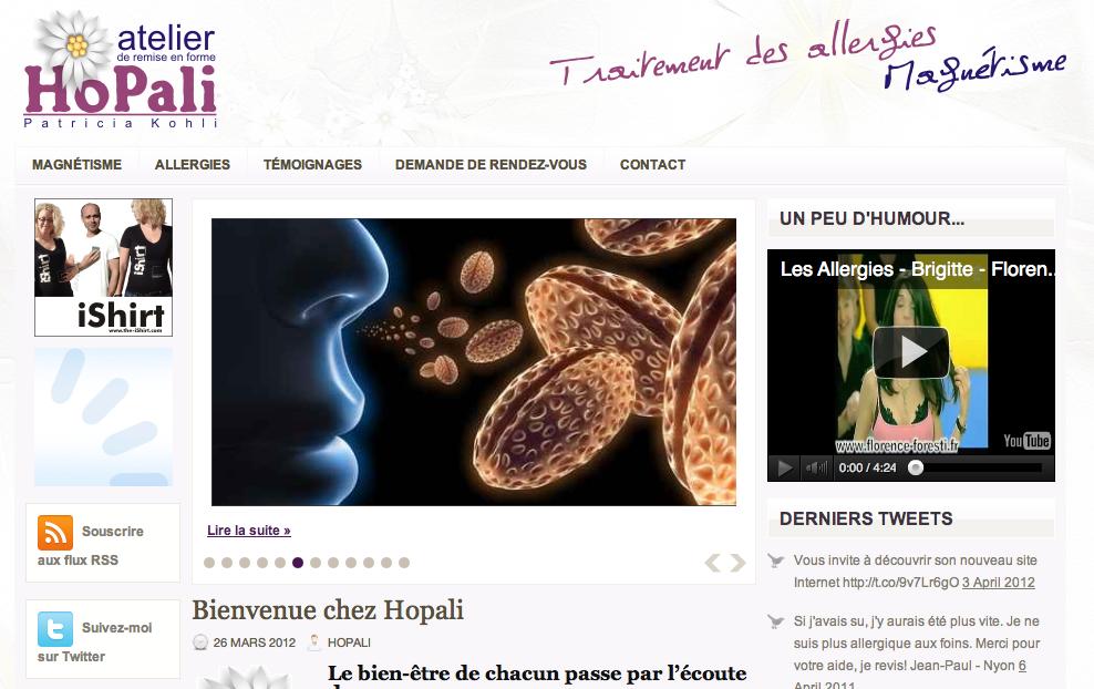 Un nouveau site pour Hopali.ch
