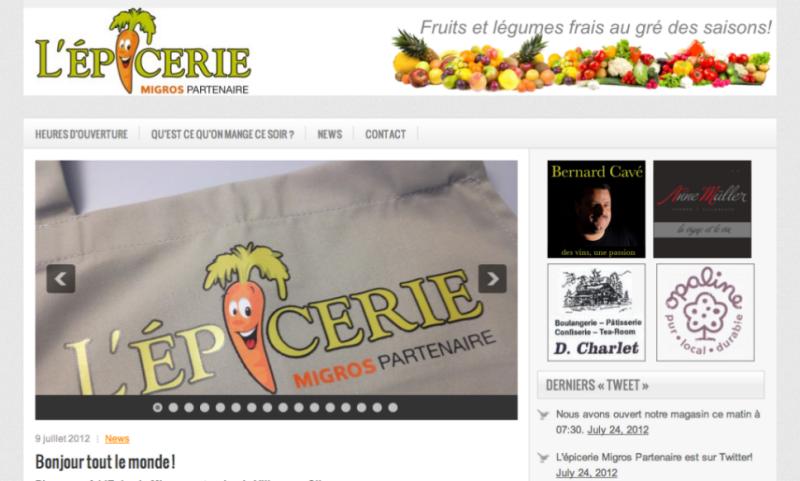 L'épicerie… Le site