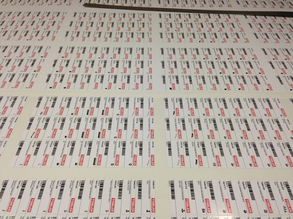 Stickers à code-barres en série