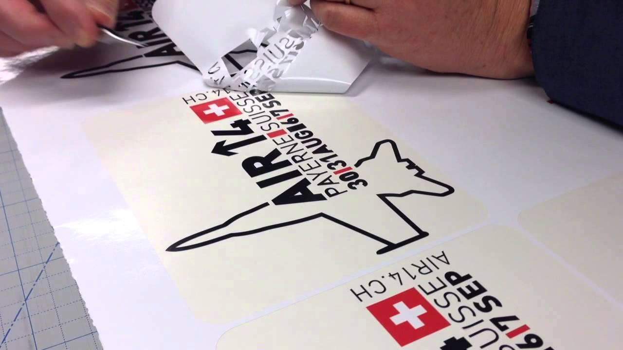Production d'autocollants pour Air14