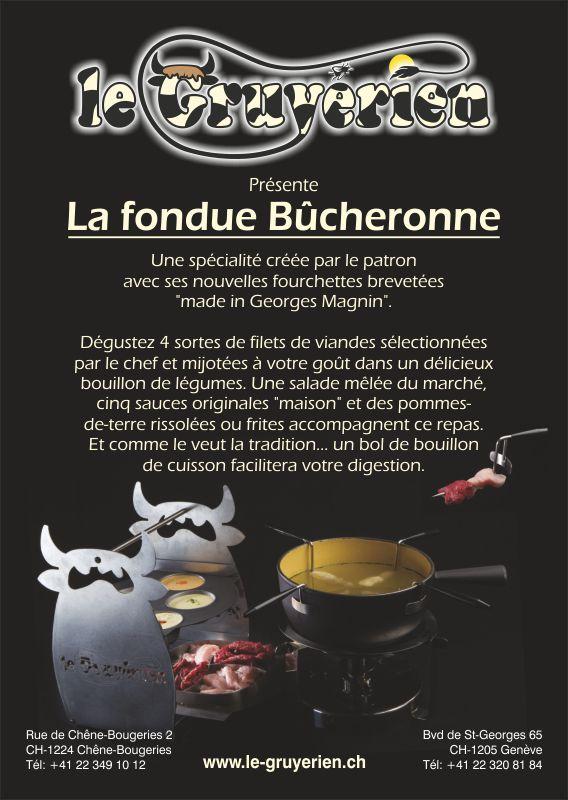 Connaissez-vous la fondue Bûcheronne?