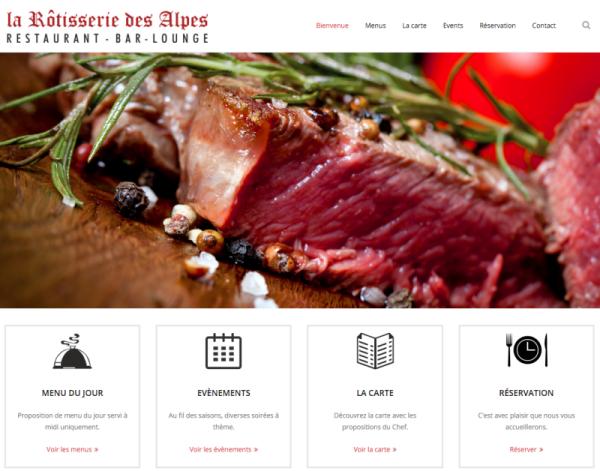 Un nouveau site pour la Rôtisserie des Alpes!